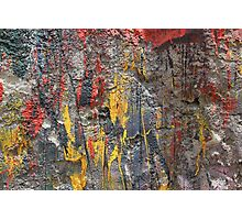 Colorful Splatters of Paint Photographic Print