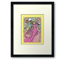 Mucha Princess Bubblegum Framed Print