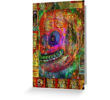 Day of Dead - Cráneo Rojo  Greeting Card