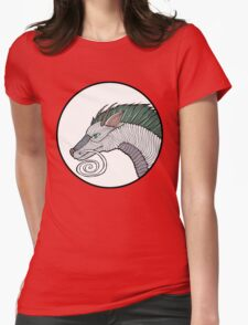 Haku Dragon Doodle Womens Fitted T-Shirt