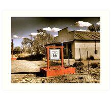 Route 66 ~ Acoma Curio Shop in San Fidel NM Art Print