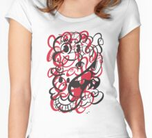 Doodle of the day II – red version Women's Fitted Scoop T-Shirt