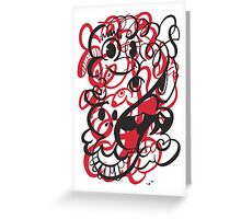 Doodle of the day II – red version Greeting Card