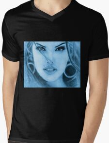 The GUESS? Girl  Mens V-Neck T-Shirt