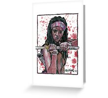 The Walking Dead's Michonne Greeting Card