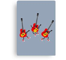 Guitar playing Ukulele Canvas Print