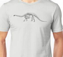 A skeleton of Brontosaurus Unisex T-Shirt