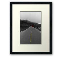 Jeep in mountain range Framed Print