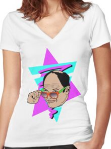 The Summer of George! Women's Fitted V-Neck T-Shirt