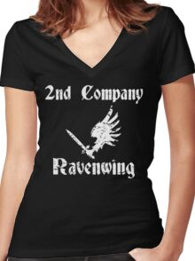 Ravenwing Distressed Women's Fitted V-Neck T-Shirt
