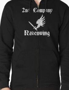 Ravenwing Distressed Zipped Hoodie