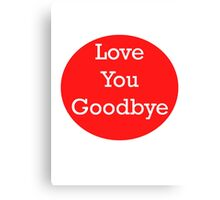 One Direction - Love You Goodbye Canvas Print