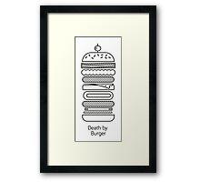 Death by Burger Framed Print