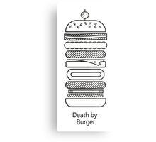 Death by Burger Metal Print