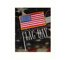 US Military Official Flag Day Poster Art Print