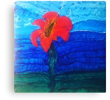 The Flower That Rises Above the Water Canvas Print