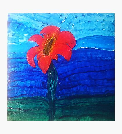The Flower That Rises Above the Water Photographic Print