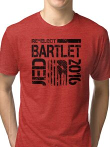 Re-Elect Jed Bartlet 2016 - Distressed Tri-blend T-Shirt