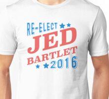 Re-Elect Jed Bartlet 2016 - Tricolor Unisex T-Shirt