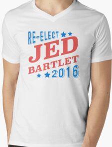 Re-Elect Jed Bartlet 2016 - Tricolor Mens V-Neck T-Shirt