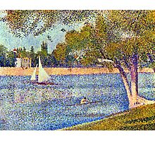 Georges Seurat The Seine and la Grande Jatte - Springtime Photographic Print
