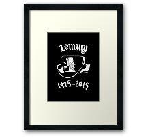 "RIP Ian ""Lemmy"" Kilmister (Motorhead) His Hat Framed Print"