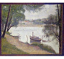 Georges Seurat Gray weather, Grande Jatte Photographic Print