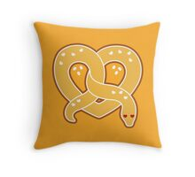 Pretzel Snake Throw Pillow