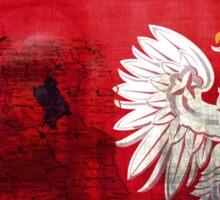 Poland: map, flag and eagle Sticker