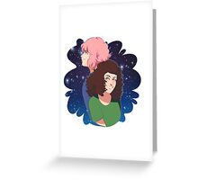 THE INCREDIBLE SPACE DUO Holly and Kati! Greeting Card