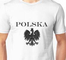 All Black Poland Flag and Eagle Unisex T-Shirt
