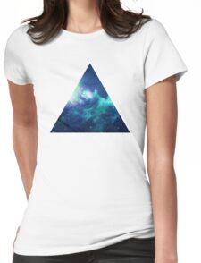 White Triangle Womens Fitted T-Shirt