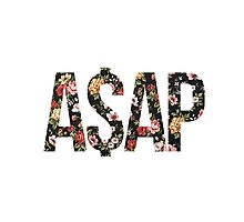 ASAP A$AP FLORAL PATTERN RED PINK YELLOW ROSE by SourKid