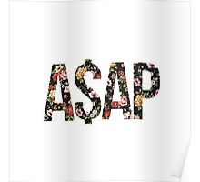 ASAP A$AP FLORAL PATTERN RED PINK YELLOW ROSE Poster