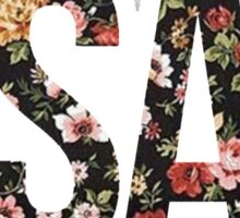 ASAP A$AP FLORAL PATTERN RED PINK YELLOW ROSE Sticker