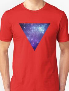 White Inverted Triangle  T-Shirt