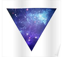 White Inverted Triangle  Poster