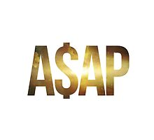 ASAP A$AP GOLD GOLDY NEBULA SPACE by SourKid
