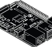 Raspberry Pi Sticker by N-O-D-E