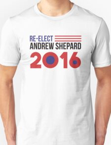 Re-Elect Andrew Shepard 2020 - Flag Unisex T-Shirt