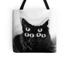 Trippy Black Cat Tote Bag