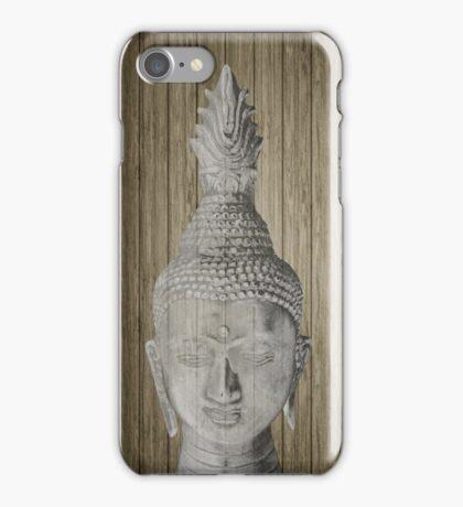 Buddha head sculpture iPhone Case/Skin