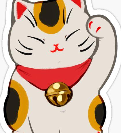 Beckoning Cat: Calico Sticker