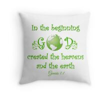 Earth Day - In The Beginning... Throw Pillow