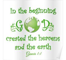 Earth Day - In The Beginning... Poster