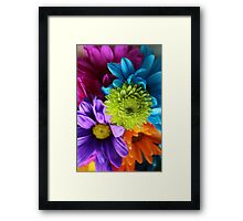 Multi-Colored Flowers Framed Print