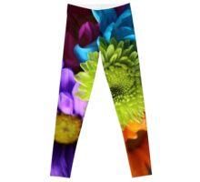 Multi-Colored Flowers Leggings