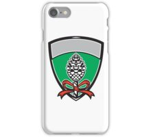 Thyrsus Pine Cone Staff Leaves Crest Retro iPhone Case/Skin