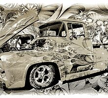 Vintage Ford Pick-up Truck by Michael Moriarty