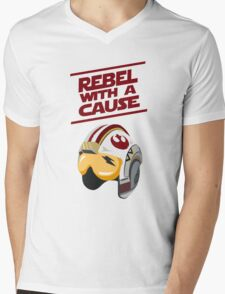 Star Wars - Rebel With a Cause  Mens V-Neck T-Shirt